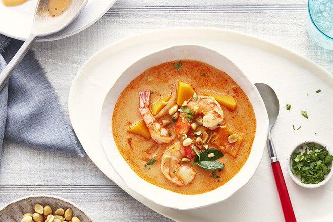 Canh bí ngô nấu tôm là một trong những món ăn bổ mắt tốt nhất